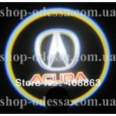 Подсветка в двери авто логотип - ACURA -  лазерная проекция логотипа в двери автомобиля Acura