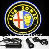 Подсветка в двери авто логотип - ALFA ROMEO -  лазерная проекция логотипа в двери автомобиля ALFA ROMEO
