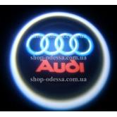 Подсветка в двери авто логотип - AUDI -  лазерная проекция логотипа в двери автомобиля AUDI
